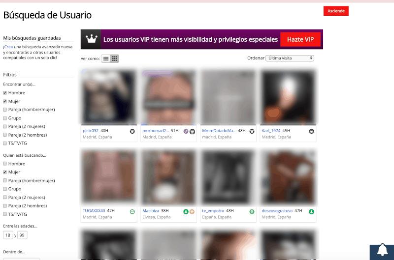 4 filtros de pesquisa para busqueda - AdultFriendFinder Opiniones [Comunidad para Sexo y Swing en España]