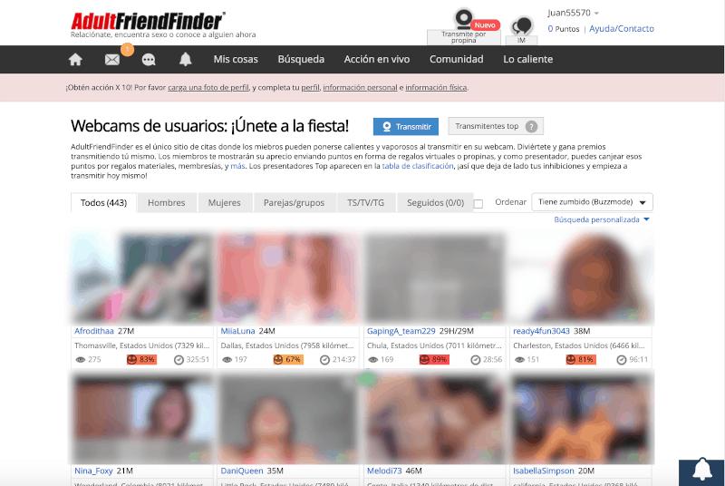 4 webcams de usuarios reales - AdultFriendFinder Opiniones [Comunidad para Sexo y Swing en España]
