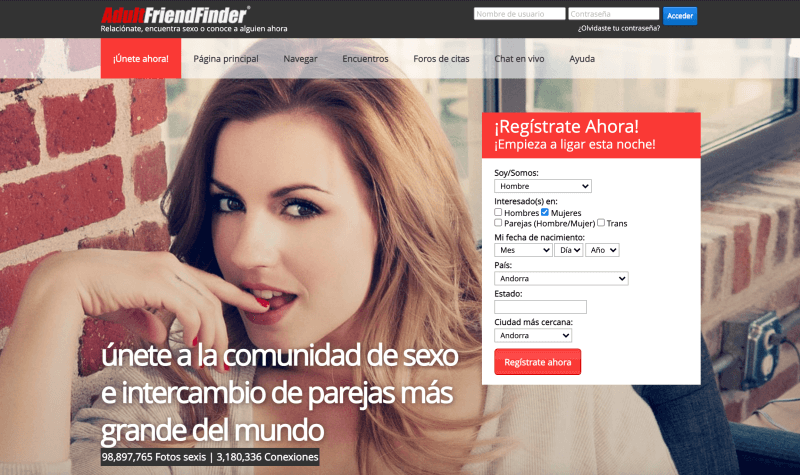 6 adultfriendfinder páginas para buscar pareja liberal